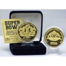 24KT Gold Super Bowl XXXVII Flip Coin from The Highland Mint