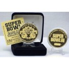 24KT Gold Super Bowl III Flip Coin from The Highland Mint