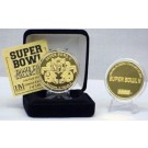 24KT Gold Super Bowl V Flip Coin from The Highland Mint