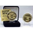 24KT Gold Super Bowl IX Flip Coin from The Highland Mint