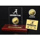 Alabama Crimson Tide 24KT Gold Coin in an Etched Acrylic Desktop Display from The Highland Mint