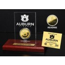 Auburn Tigers 24KT Gold Coin in an Etched Acrylic Desktop Display from The Highland Mint