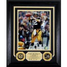 """Terry Bradshaw Autographed Framed 8"""" x 10"""" Photograph and Medallion Set from The Highland Mint"""