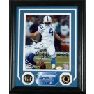 """Adam Vinatieri Autographed """"Colts"""" Framed 8"""" x 10"""" Photograph and Medallion Set from The Highland Mint"""