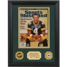 """Brett Favre Autographed """"2007 Sportsman of the Year"""" Sports Illustrated Framed 8"""" x 10"""" Photograph and Medallion Set from The Highland Mint"""