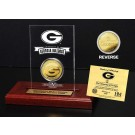 Georgia Bulldogs 24KT Gold Coin in an Etched Acrylic Desktop Display from The Highland Mint