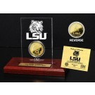 Louisiana State (LSU) Tigers 24KT Gold Coin in an Etched Acrylic Desktop Display from The Highland Mint