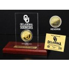 Oklahoma Sooners 24KT Gold Coin in an Etched Acrylic Desktop Display from The Highland Mint