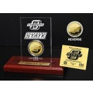 Oklahoma State Cowboys 24KT Gold Coin in an Etched Acrylic Desktop Display from The Highland Mint