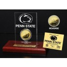 Penn State Nittany Lions 24KT Gold Coin in an Etched Acrylic Desktop Display from The Highland Mint