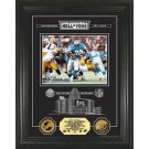 "Barry Sanders Hall of Fame Archival Etched Glass Framed 6"" x 9"" Photograph and Medallion Set from The Highland Mint"