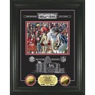 "Jerry Rice HOF Induction Etched Glass Framed 8"" x 10"" Photograph and Medallion Set from The Highland Mint"