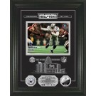 """Emmitt Smith HOF Induction Etched Glass Framed 8"""" x 10"""" Photograph and Medallion Set from The Highland Mint"""