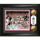 """Chicago Blackhawks 2010 Stanley Cup Champions Celebration Framed 8"""" x 10"""" Photograph and Medallion Set from The Highland Mint"""
