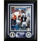 "Troy Aikman Hall Of Fame Induction 8"" x 10"" Framed Photograph and Medallion Set from The Highland Mint"