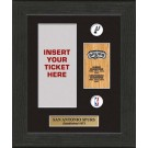 San Antonio Spurs Framed Ticket Display from The Highland Mint