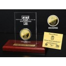 Texas Tech Red Raiders 24KT Gold Coin in an Etched Acrylic Desktop Display from The Highland Mint