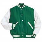 """Varsity"" Wool with Leather Sleeves Jacket From Holloway Sportswear"