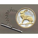 """Ireland 3 Pence """"Rabbit"""" Two Tone Coin Tie Tack"""