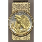 Reverse Walking Liberty Half Dollar (1916 - 1947) Two Tone U.S. Coin Hinged Money Clip