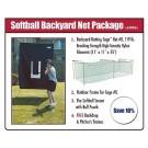 JUGS Softball Backyard Net Package™ with Softball Screen