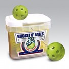 Bucket of JUGS BULLDOG™ Vision Enhanced Yellow™ Baseballs - 18 Balls