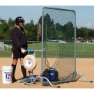 Softball Fixed-Frame Pitchers Screen - 6 1/2' Tall from The Jugs Company