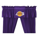"""Los Angeles Lakers 88"""" x 14"""" Coordinating Pleated Valance for """"The Sidelines Collection"""" by Kentex"""