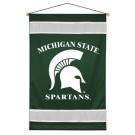 """Michigan State Spartans 29.5"""" x 45"""" Coordinating NCAA """"Sidelines Collection"""" Wall Hanging from Kentex"""