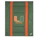 """Miami Hurricanes Jersey Mesh Full / Queen Comforter from """"The Sidelines Collection"""" by Kentex"""