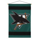"San Jose Sharks 29.5"" x 45"" Coordinating NHL ""Sidelines Collection"" Wall Hanging from Kentex"