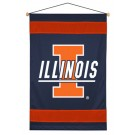 "Illinois Fighting Illini 29.5"" x 45"" Coordinating NCAA ""Sidelines Collection"" Wall Hanging from Kentex"