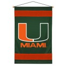 """Miami Hurricanes 29.5"""" x 45"""" Coordinating NCAA """"Sidelines Collection"""" Wall Hanging from Kentex"""