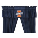 Illinois Fighting Illini Coordinating Valance for the Locker Room or Sidelines Collection by Kentex