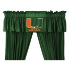 Miami Hurricanes Coordinating Valance for the Locker Room or Sidelines Collection by Kentex