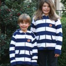 Auburn Tigers Toddler Full Zip Rugby Hoodie - Medium (Navy / White)