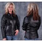 Ladies Soft Nappa Leather Biker Jacket