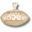 "Appalachian State Mountaineers ""ASU Football"" Pendant - 14KT Gold Jewelry"