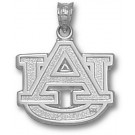 "Auburn Tigers 5/8"" ""AU"" Lapel Pin - Sterling Silver Jewelry"