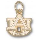 "Auburn Tigers 3/8"" ""AU"" Lapel Pin - Sterling Silver Jewelry"