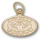 "Auburn Tigers ""Tiger Eyes"" Logo 3/8"" Charm - 14KT Gold Jewelry"