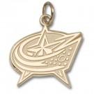 "Columbus Blue Jackets 3/8"" Star Logo Charm - 14KT Gold Jewelry"