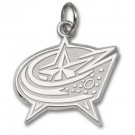 """Columbus Blue Jackets 3/8"""" Star Logo Charm - Sterling Silver Jewelry"""