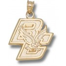 "Boston College Eagles New ""BC & Eagle"" 5/8"" Pendant - 14KT Gold Jewelry"