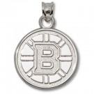 "Boston Bruins 5/8"" ""B"" Logo Pendant - Sterling Silver Jewelry"