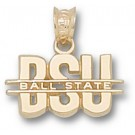 "Ball State Cardinals ""BSU"" Pendant - 10KT Gold Jewelry"