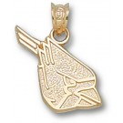 "Ball State Cardinals ""Cardinal Head"" Pendant - 10KT Gold Jewelry"
