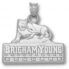 "Brigham Young (BYU) Cougars ""BYU"" Logo 5/8"" Pendant  - Sterling Silver Jewelry"