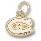 """Montreal Canadiens """"C Logo"""" 5/16"""" Charm - 14KT Gold Jewelry"""
