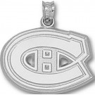 """Montreal Canadiens """"C Logo"""" 5/8"""" Pendant - Sterling Silver Jewelry"""